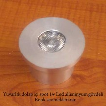 Alüminyum Gövdeli Yuvarlak Led Spot 2